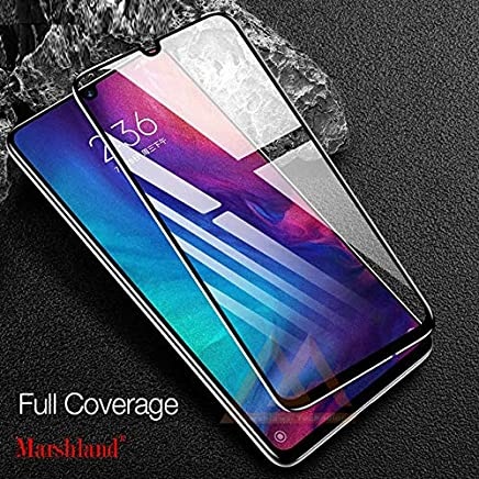 Marshland Screen Protector Full Glue 6D Anti Scratch Bubble Free Oleo Phobic Coating Tempered Glass Compatible with Huawei P30 Lite – Black