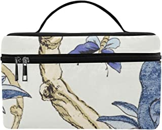 Giselle Blue And White T Collection Imperi Pattern Lunch Box Tote Bag Lunch Holder Insulated Lunch Cooler Bag For Women/men/picnic/boating/beach/fishing/school/work