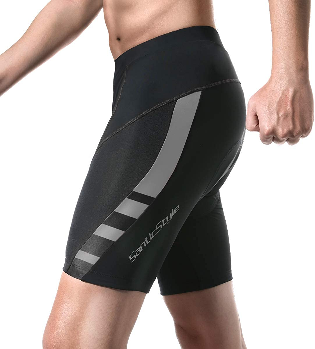 Santic Attention Ranking TOP12 brand Men's Cycling Shorts 4D Breathable Padded Biking B