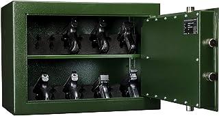 MustangSafes Pistool en Munitiekluis MSW-B 400   Pistoolkluis met Dubbelbaard Sleutelslot - 40 x 55 x 35 cm
