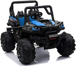 دراجة نارية كهربائية بأربع عجلات مع محرك رباعي للأطفال، لون أزرق