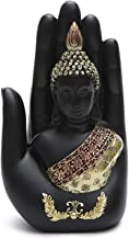 PPCP Buddha Statue Buddha Sculpture Green Resin Hand Made Buddhism Hindu Fengshui Figurine Meditation Home Decoration
