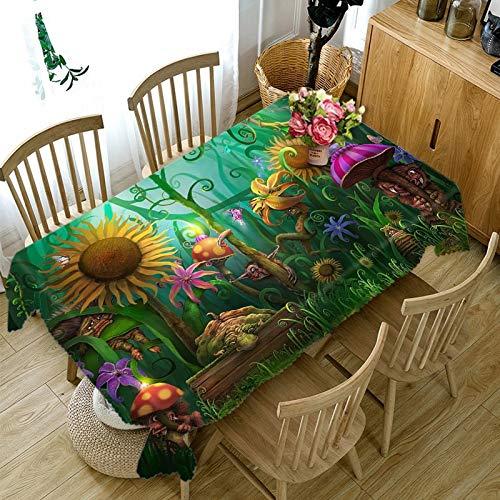 XXDD Mantel 3D para Cocina, Mantel para Comedor, patrón de Flores, decoración para el hogar, Mantel Rectangular para Fiesta, decoración A3, 140x160cm
