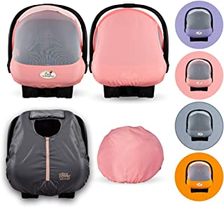 Cozy Combo Pack (Pink Grapefruit) – 'Sun & Bug' Cover Plus a Lightweight Summer 'Cozy Cover' - Trusted by Over 6 Million Moms Worldwide – Protects Your Baby from Mosquitos, Insects, The Sun
