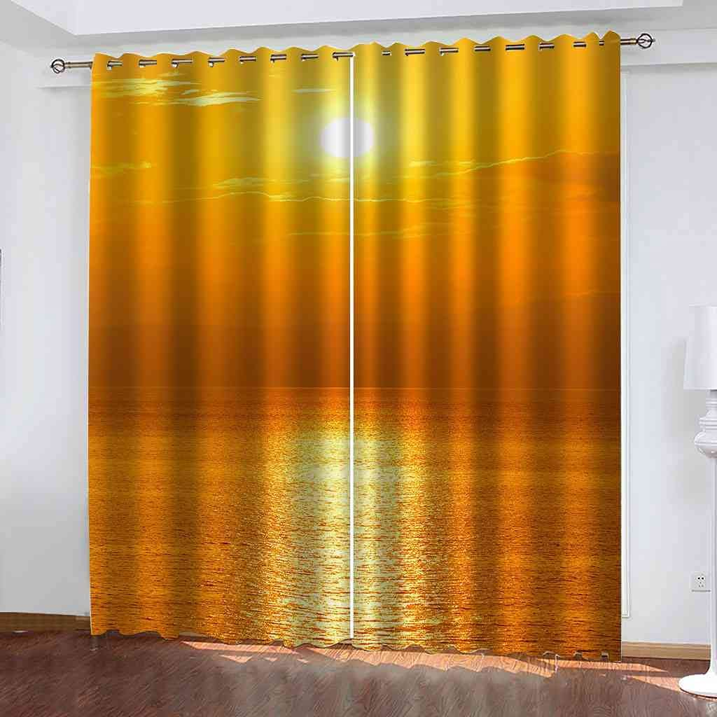Max 62% OFF Product DSVNNZ Printing Blackout Curtains for Panel Bedroom 2 Sunset Gol