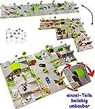 alles-meine.de GmbH Set: XXL 3-D Spielmatte -  Straße UMBAUBAR  - 6 Teile mit Brücke - 1/64 -...