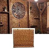 L-KCBTY Cortina De Bambú - Persiana Estor Enrollable De Bambú Natural, Aislamiento Térmico/Transpirables, Persianas De Bambu Exterior para Decoración De Jardín/Patio/Balcón/Cocina