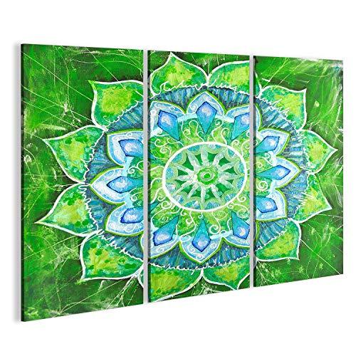 Cuadro Mandala verde