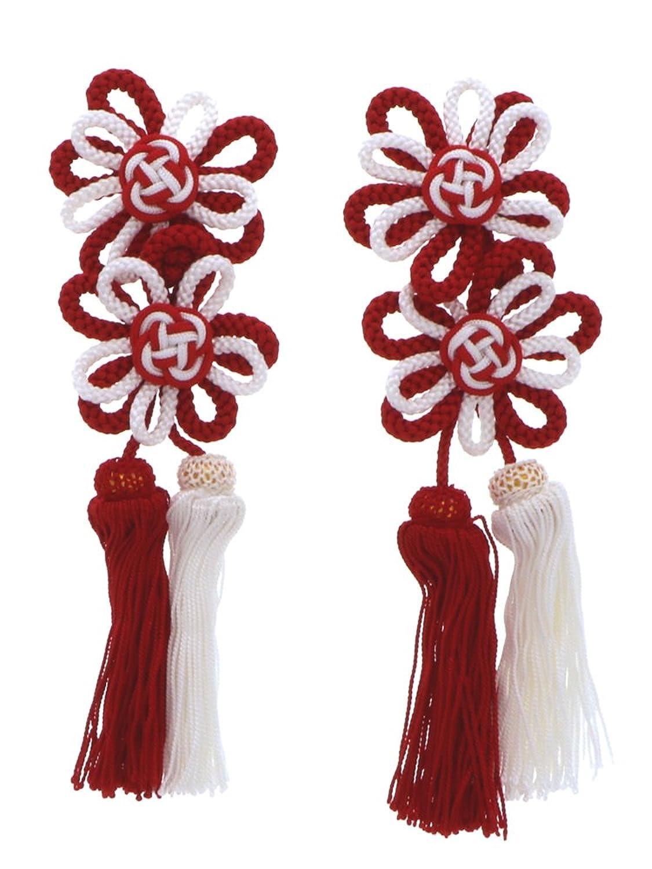 [ 京都きもの町 ] 七五三 被布飾り 単品 紅白 上 3歳