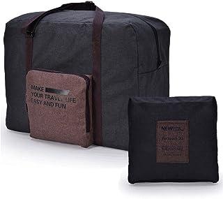 CAREMORE Unisex's Lightweight Fodable Waterproof Duffel Travel Bag Luggage Bag Large Capacity Brown