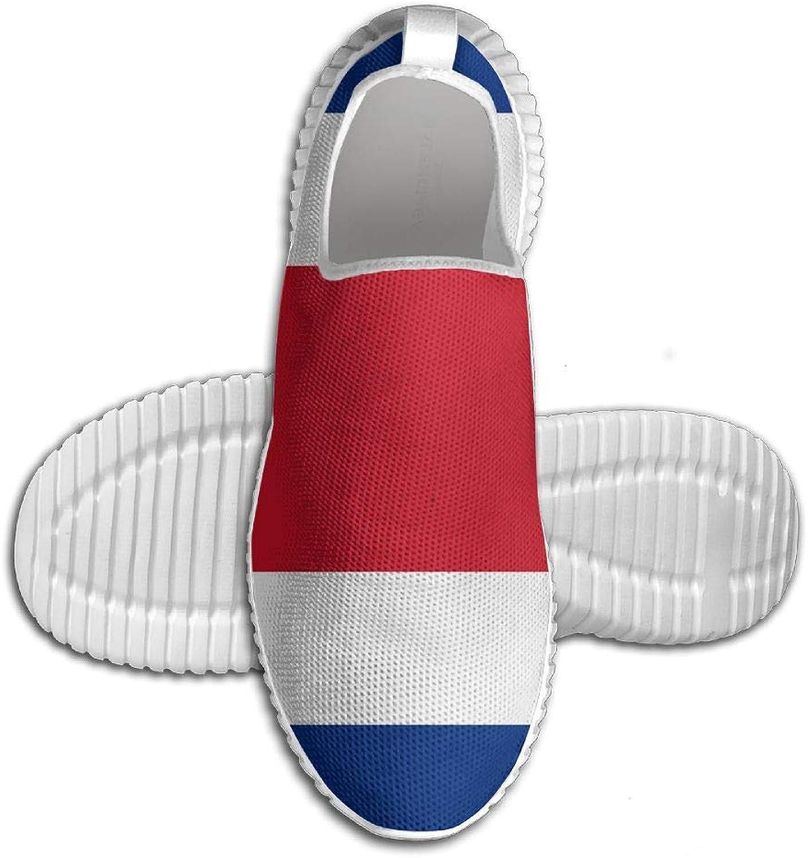 Flagg of Costa Rica Printed ljusljus Andable springaning skor skor skor herrar Sports gående skor