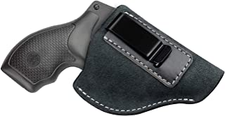 Kosibate IWB Leather Holster, Fits Most J Frame Revolvers - Ruger SP101 LCR/Smith and Wesson Bodyguard/Taurus 50 85 / Charter Arms/Kimber K6s & Most .38 Special Type