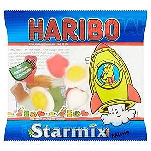 haribo starmix sweets mini bags, 16g x 100 packs (1.6kg) HARIBO Starmix Sweets Mini Bag 16 g (Pack of 100) 6171P9ZDbxL