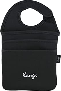Kanga 3 Pocket Carryall Versatile Hook and Loop Organizer for Home Office or Auto Black #1207