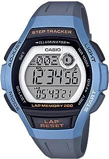Women's Runner Quartz Running Watch with Resin Strap, Black, 19.3 (Model: LWS-2000H-2AVCF)