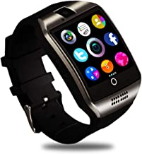 Q18 Smart Watch,Smartwatch for Android Phones, Smart Watches Touchscreen with Camera Bluetooth Watch Phone with SIM Card Slot Watch Cell Phone Compatible Android Samsung iOS Phone XS X8 7 6 5 Men Women