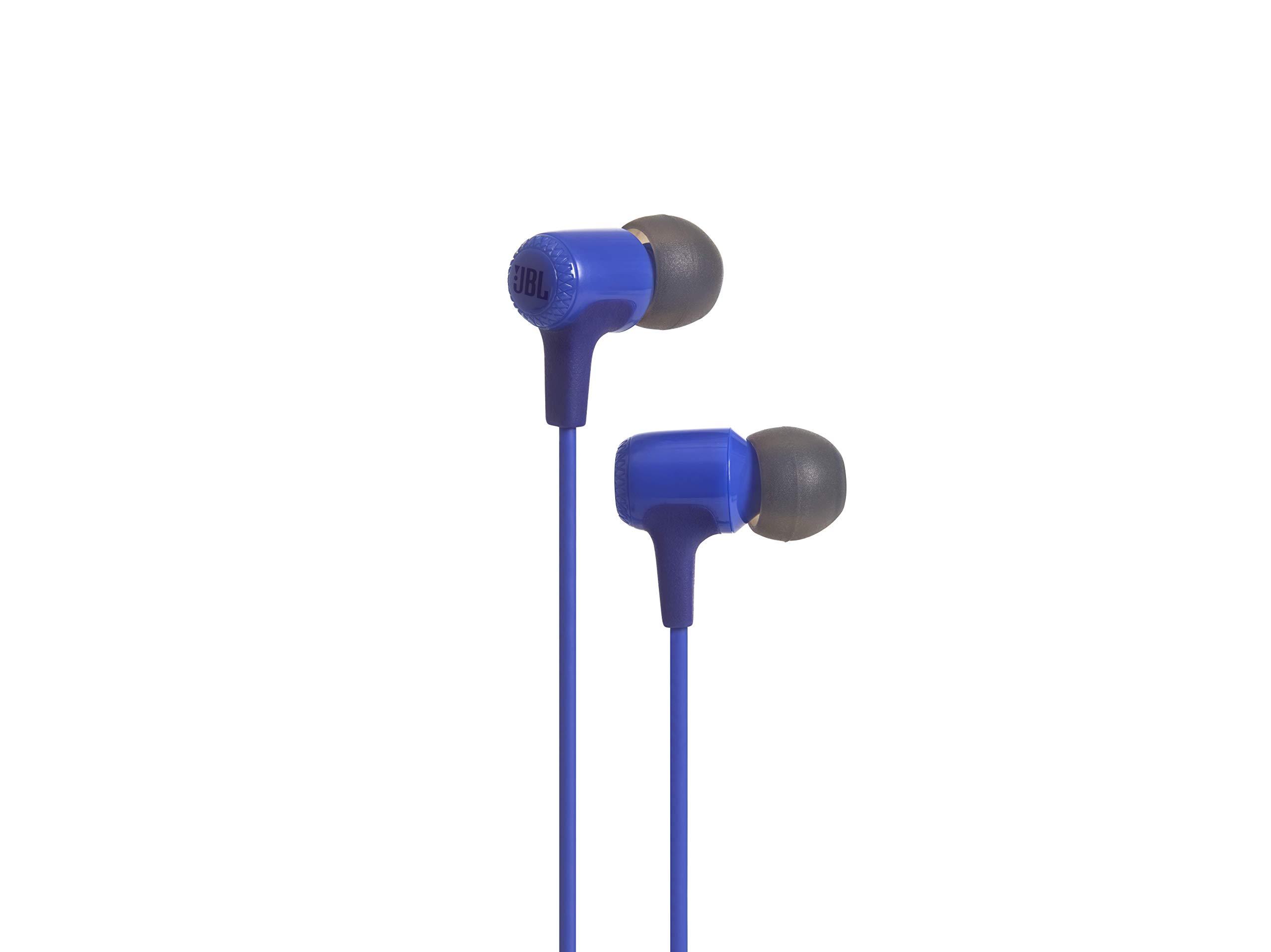 JBL E15 in-Ear Headphones with Mic (Blue)