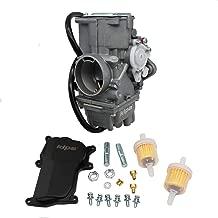 KIPA Carburetor For Yamaha Warrior 350 YFM350X 1987-2004 Big Bear 350 2X4 4X4 1987-1996 MOTO-4 YFM350 1987-1995 Wolverine 1995 Two New Main carb jets Fuel Filters included