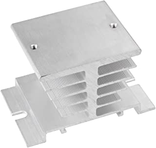 uxcell Aluminum Heat Sink SSR Dissipation for Single Phase Solid State Relay 10A-40A
