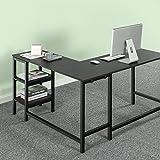 Zinus Luke L-Shaped Corner Computer Desk / Workstation / Home Office with Storage Shelves