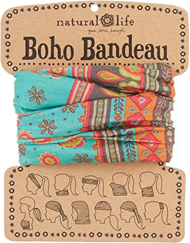 Price comparison product image Natural Life Boho Bandeau Pattern,  Turquoise and Grey