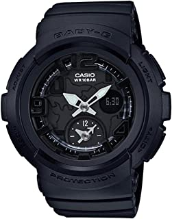 Casio Baby G Black Dial Polyurethane Strap Ladies Watch BGA-190BC-1B