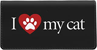 Snaptotes I Love My Cat Checkbook Cover One Size Red White Black