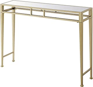 Convenience Concepts Hall Console Table, Mirror Top/Gold Frame