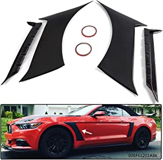 New Fender Scoops Fits For Ford Mustang GT350 Style 2015-2017 Front Side Fender Panel Door Scoops Vents Black 2016