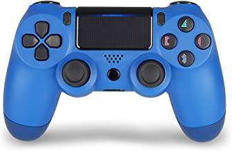 Wireless Controller Remote for PS4, Joystick, for Sony Playstation 4 with Charging Cable (Blue, New Model)
