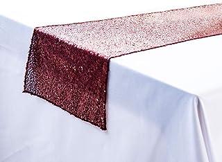 Herbests Chemin de table à paillettes, 30 x 180 cm, paillettes, chemin de table, décoration pour fête, mariage, anniversai...