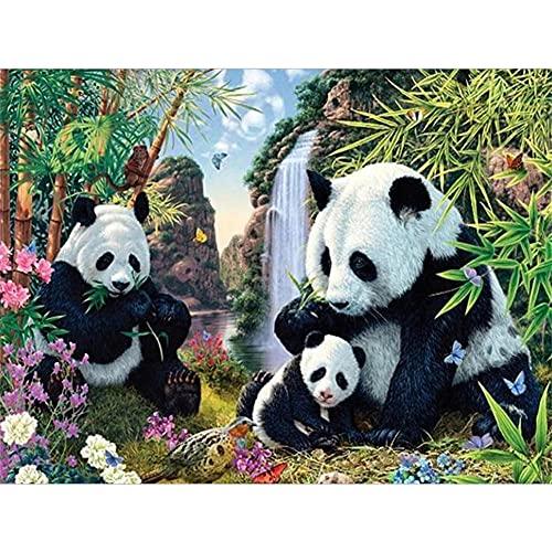 DIY 5D Diamante Pintura por Número Kit Round drill Panda De Bambú 60x90cm Completo Pintura de Diamante 5D Bordado de Cristal Rhinestone punto de cruz Manualidades Lienzo Para Decoración Del Hogar