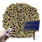 Fairy Lights solari, 2021 20m 200 LED 8 Modalità Luci da Stringa Solari con Telecomando, ...