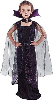 Girl's Vampire Costume Halloween Gothic Dress Victorian Vampiress Bat