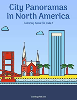 City Panoramas in North America Coloring Book for Kids 3