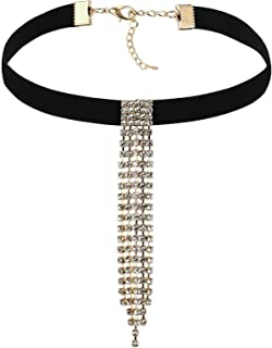 AMDXD Jewelry Stainless Steel Collar Necklaces Women Black Gold Square Length 32.7+7.5CM
