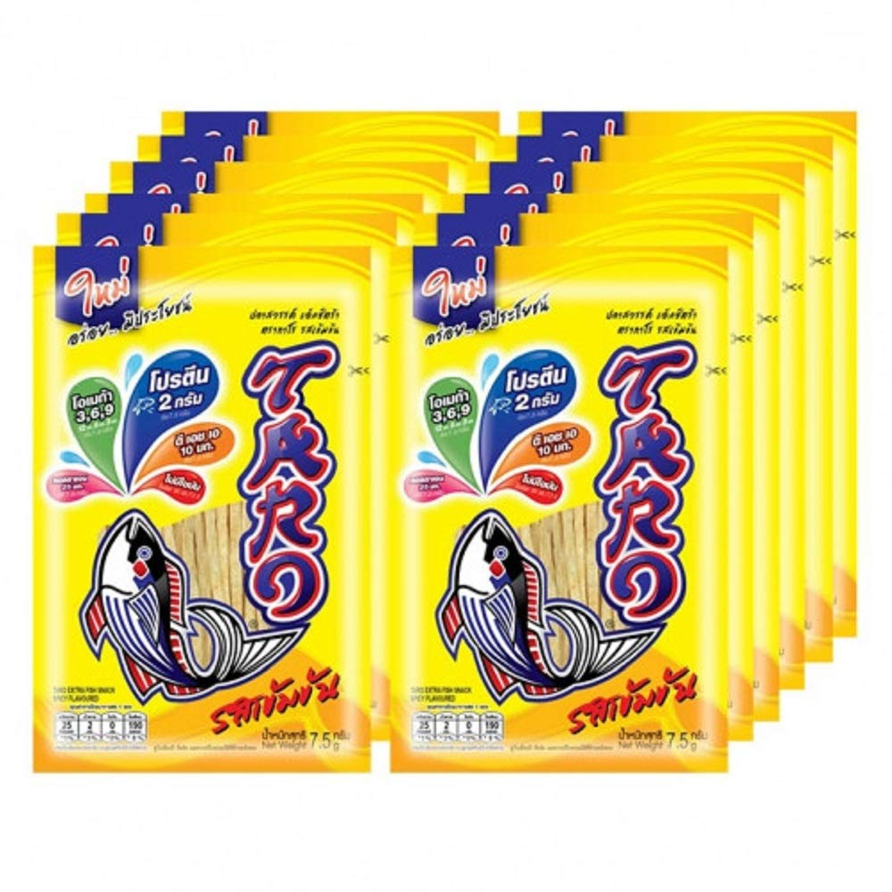 TARO Extra Fish Snack Spicy Flavoured 7.2g X 12 Packs