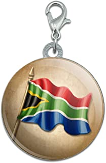 Made On Terra Vintage South African Flag - South Africa Stainless Steel Pet Dog ID Tag