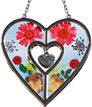 I Love You Suncatchers Saint Valentine`s Day Love Heart Love Suncatchers with Pressed Flower Heart - Heart Suncatcher - Love Gifts Gift for Love's Day