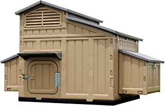 Rural365 Large Chicken Coop Hen House, 4 Nesting Box, Roost, Chicken Coop for Chickens Duck Coop Chicken House 5x3x3.5ft