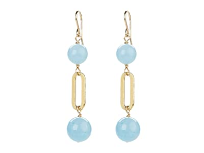 Dee Berkley Ball and Chain Earrings with Aquamarine