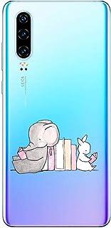 Oihxse beschermhoes voor Huawei Mate 30 [schattig transparant olifant konijntje patroon serie] zachte TPU beschermhoes ult...