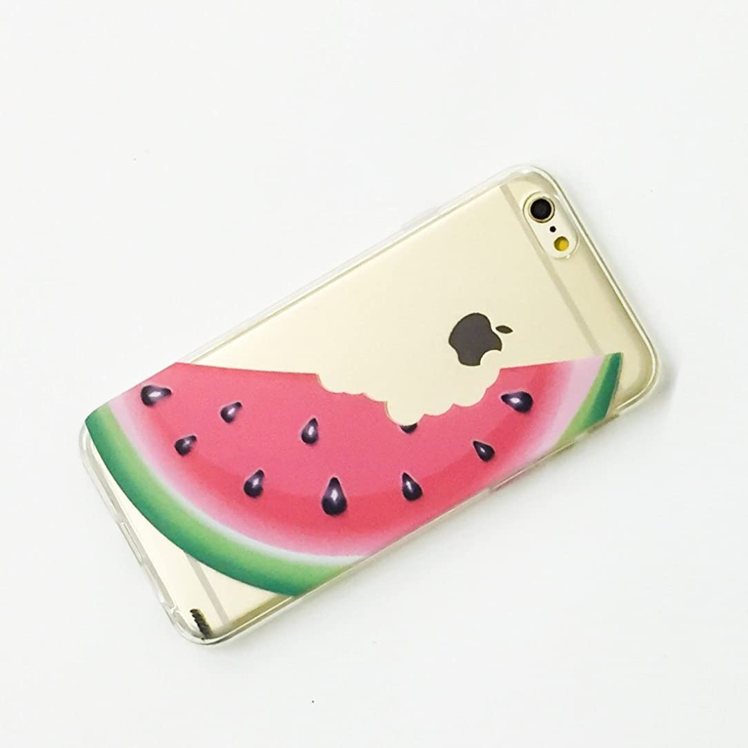 Foxycases iPhone 6 / 6s Ultra Slim Silicone Flexible Rubber Case Cover - Watermelon Fruit