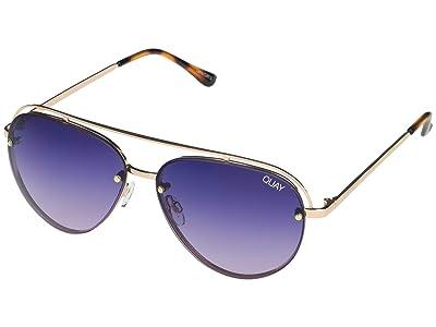 QUAY AUSTRALIA Long Story (Gold/Purple) Fashion Sunglasses