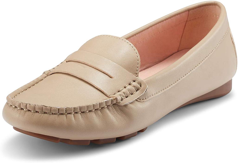 JENN ARDOR Penny Loafers for Women  Vegan Leather Slip-On Comfortable Driving Moccasins Ballet Flats