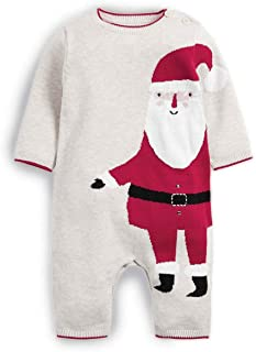 Katies Playpen - Baby Best Buys Mamas & Papas Knitted All in One Christmas Santa Claus Footless Romper 100% Cotton - Newbo...