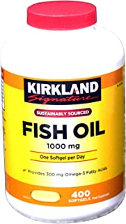 Fish Oil 1000mg Dietary Supplement - 400 Capsules-kirkland signature