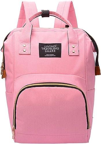 CBCAfrauen mit Größer kapazit Mode mütterlichen Rucksack Portable multifunktions - Flasche, Mutter und Kind,Rosa