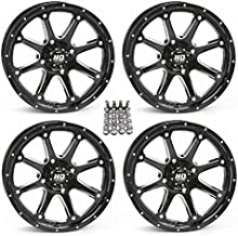 STI HD4 ATV Wheels/Rims Black 14