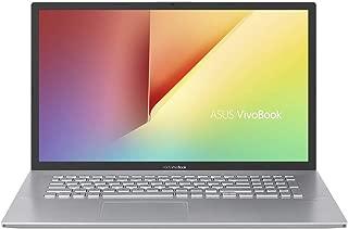 Asus VivoBook 17 A712FB-AU143T Laptop (Transparent Silver) - Intel i7-8565u 4.6 GHz, 16 GB RAM, 1000 GB HDD+128GB SSD Hybrid, Nvidia Geforce MX130, 17 inches LED, Windows 10, Eng-Arb-KB